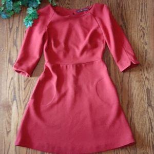 ZARA cut out red dress